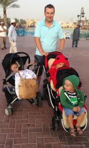 Strollers definitely needed at Dubai Global Village