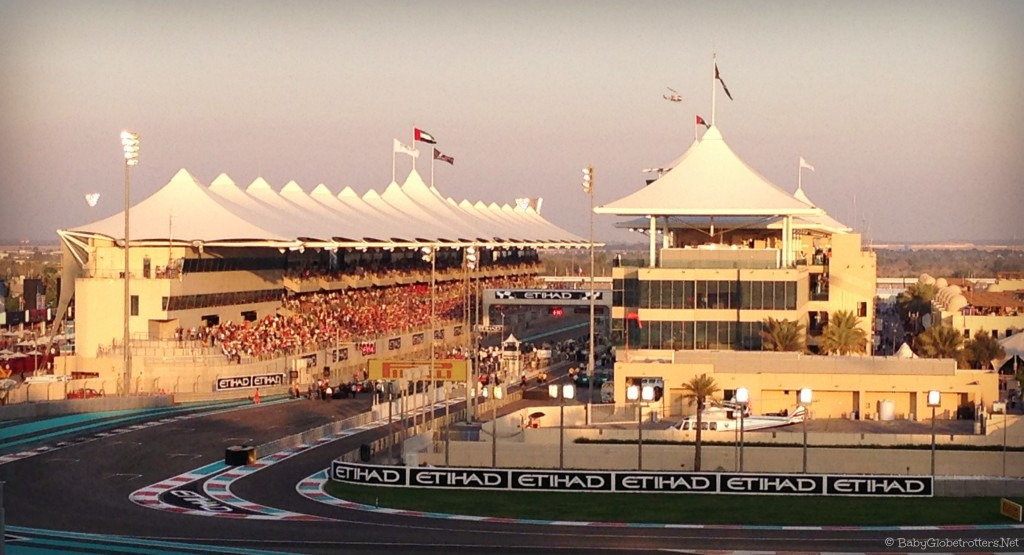 Yas Marina Circuit sunset Grand Prix 2014