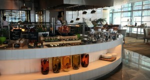 Brunch at Aqua Restaurant, Rosewood Hotel | Our Globetrotters review top family friendly restaurants in Abu Dhabi
