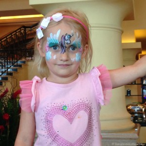 Brunch and fantastic face painting at Shangri La Abu Dhabi