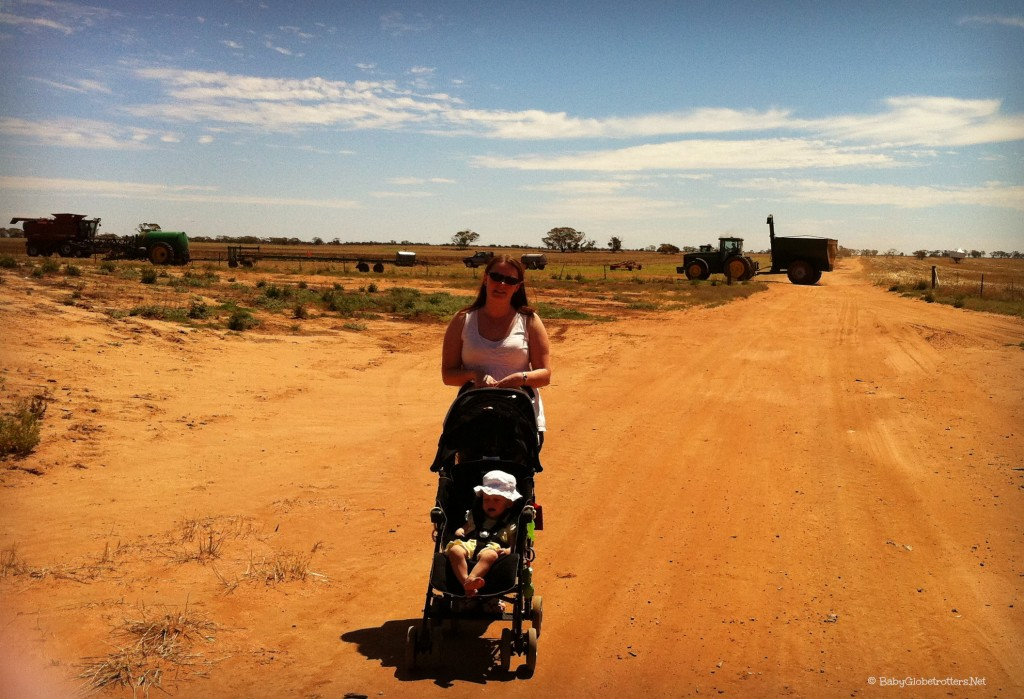 Selecting the best ptravel stroller - our light-weight Maclaren in action in Australia