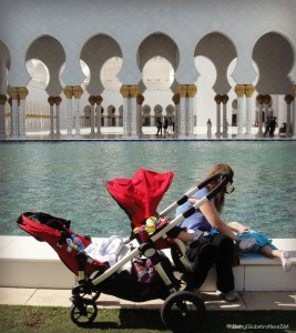 A tandem stroller may be a better fit for family travellers with more than one child