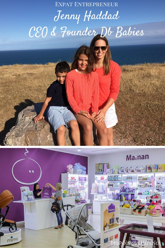 Meet CEO & Founder of Db Babies, Jenny Haddad, mum of 2 from Dubai | Expat Entrepreneur | OurGlobetrotters.Net