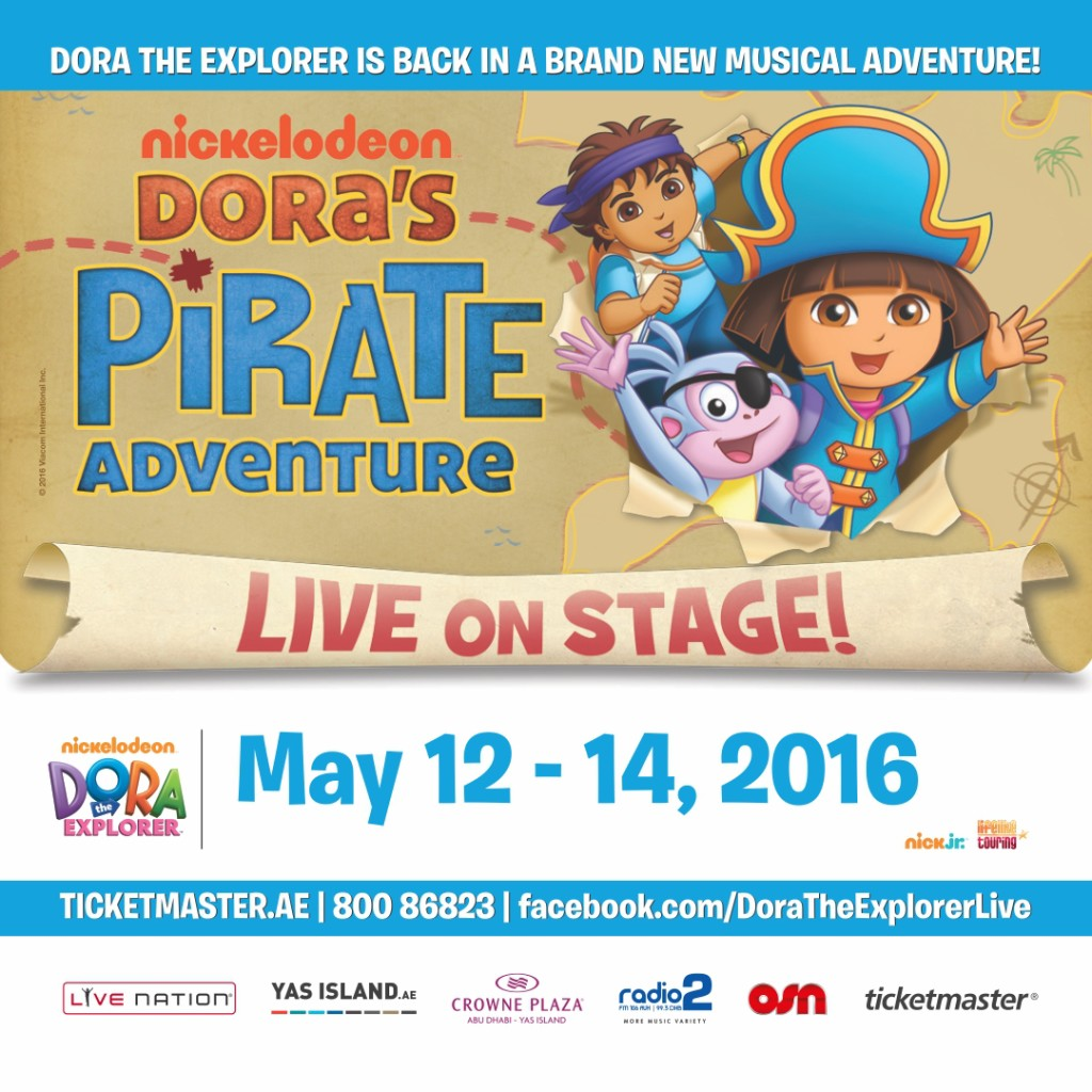 Win tickets to Dora the Explorer live in Abu Dhabi courtesy of Our Globetrotters.Net