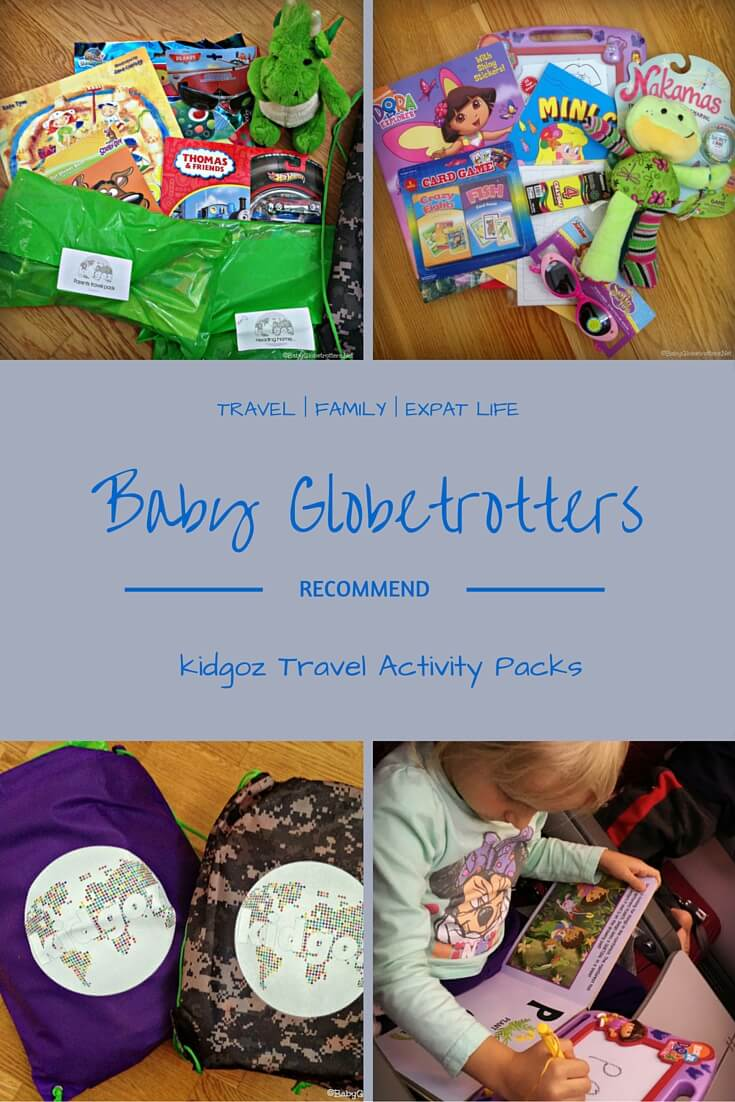 Kidgoz Activity Packs - a tailor made busy bag ideal for long plane or car journeys with your kids | Our Globetrotters Recommend | OurGlobetrotters.Net
