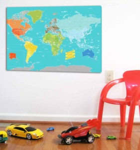 Texture Ink Wall Map - May Giveaway Prize | OurGlobetrotters.Com