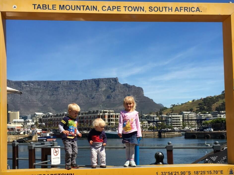 View of Table Mountain from V&A Waterfront | Cape Town with Kids | OurGlobetrotters.Net