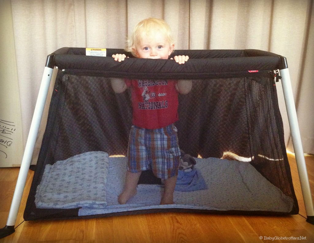 See our road test of the Phil & Teds Traveller light weight travel cot| Product Review | OurGlobetrotters.Net