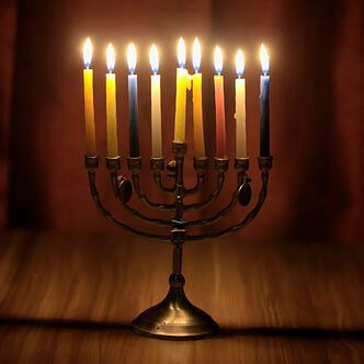 Celebrating Hanukkah in the Jewish community falls near christmas
