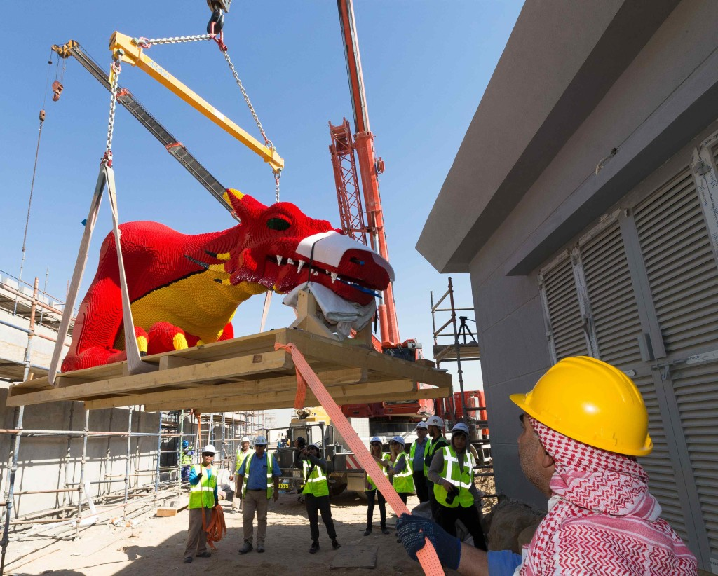 The Red Dragon moves into its new home at LEGOLAND® Dubai!