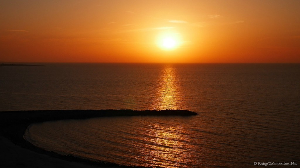 Doubletree Marjan Island sunset from the 9th floor | Hotel Review | OurGlobetrotters.Net