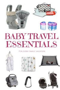 Baby Travel essentials for every family vacation