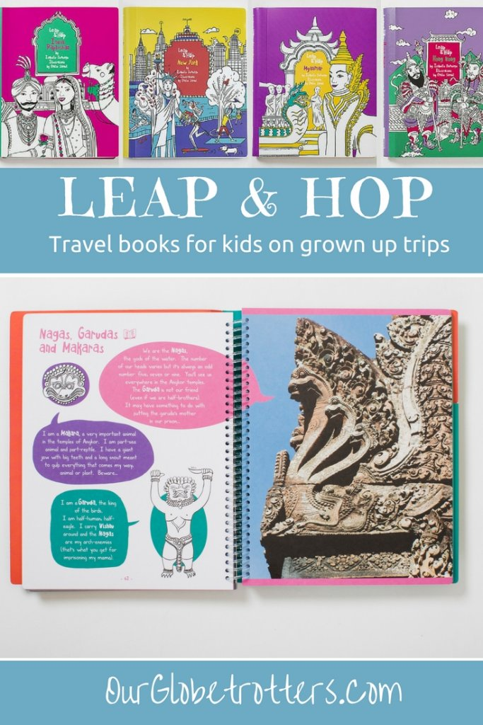 Leap & Hop activity books for kids on grown-up trips