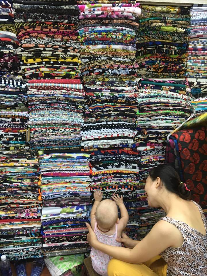 Tan Dinh fabric market | Expat Parenting in Vietnam | OurGlobetrotters.Net