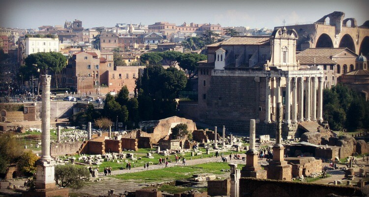 View of the Roman Forum | Practical Guide to visiting Rome with a Baby
