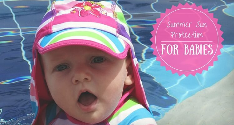 Baby using sunhat outside | Summer Sun protection for Babies | OurGlobetrotters.Com