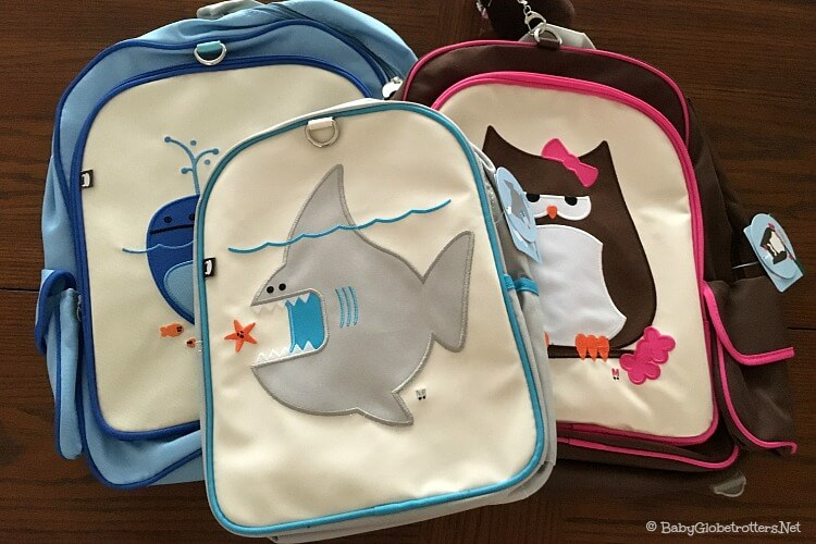 Cute kids backpacks that are the ideal size for a toddler plane bag | OurGlobetrotters.Net