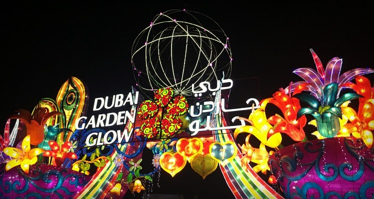 Dubai Garden Glow with kids