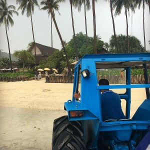 Arrival to Phi Phi Island Village Beach Resort by Catamaran, transfer to speed boat transfer to tractor - easy!