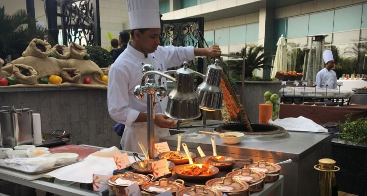 Brunch at the Terrace on the Corniche, St Regis Abu Dhabi