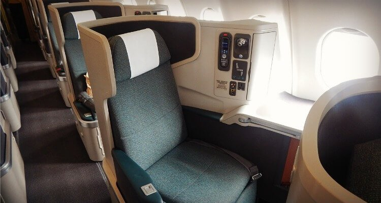 How to fly business class with kids