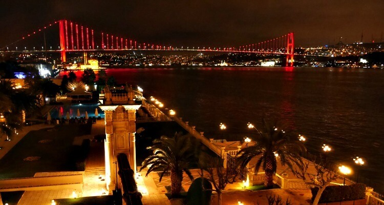 View of the Bosphorus Bridge from Ciragan Palace Kempinski |Our Globetrotters