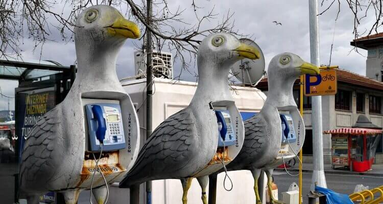 Imaginative phone boxes at the Besiktas ferry terminal | Our Globetrotters