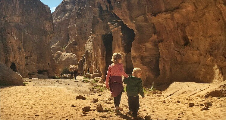 Jordan road trip with kids - Little Petra | Our Globetrotters