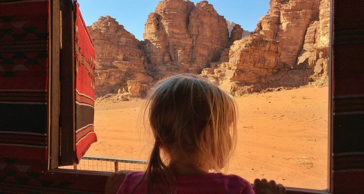 Wadi Rum view in Jordan