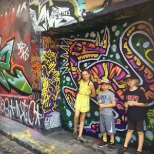 Famous Hosier Lane street art | Explore my City Melbourne with kids