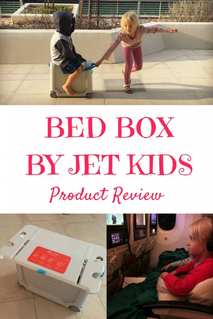 Frequent Flyers the Globetrotters put the Jet Kids Bed Box to the long haul test