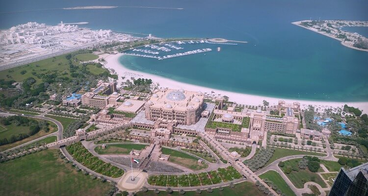 Emirates Palace as viewed from Observation 300