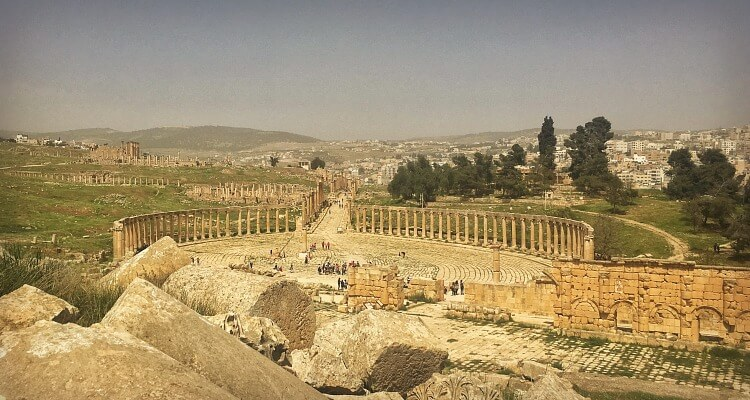 Exploring the ancient city Jerash With Kids
