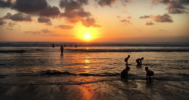 Kuta Beach Bali beautiful but crowded