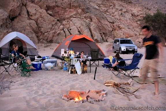 Beach camping in Dibba