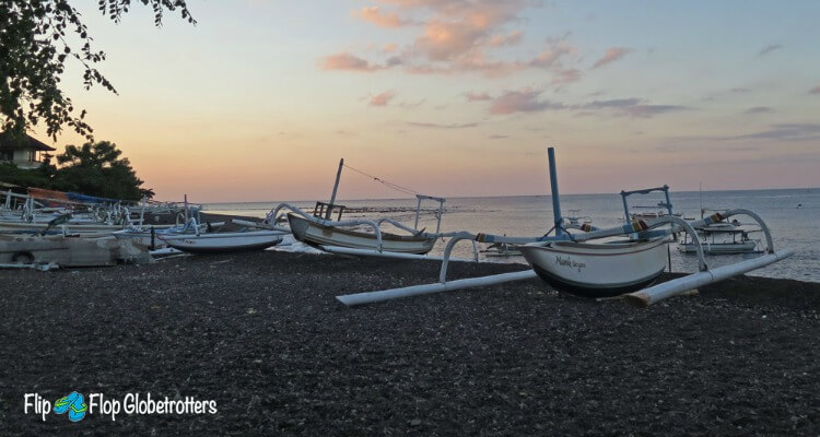 Bali Hidden Gem Amed | Black Sand Beach at Jemeluk