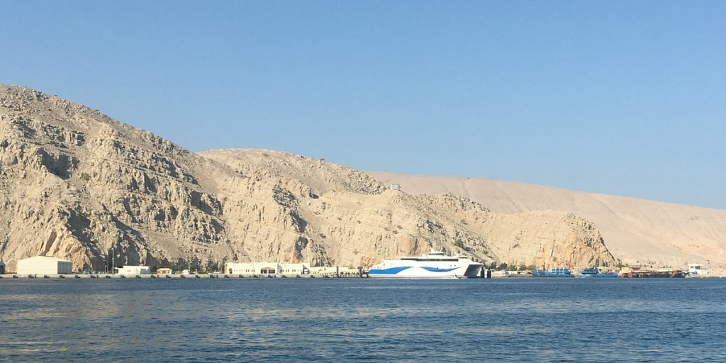 Speed ferry connecting Khasab to Muscat and the south of Oman