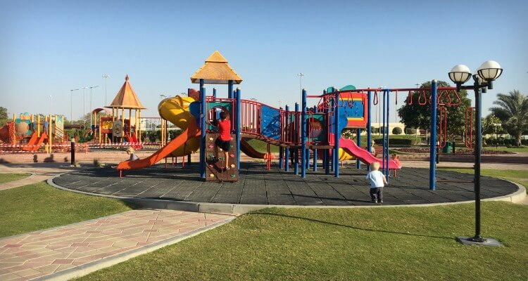 Al Bahia Park one pf Abu Dhabis great parks off island | Our Globetrotters Family Travel & Expat Blog