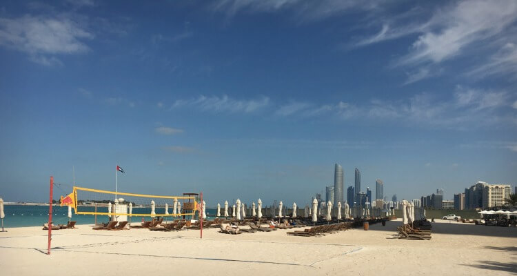 The Corniche is one of Abu Dhabi's famous landmarks stretching 8km along the city front | Best Parks and outdoor spaces in Abu Dhabi | Our Globetrotters Family Travel & Expat Blog