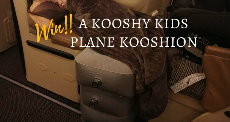 Win a Kooshy Kids Plane Kooshion | Review of the Kooshy Kids Kooshion product by Our Globetrotters