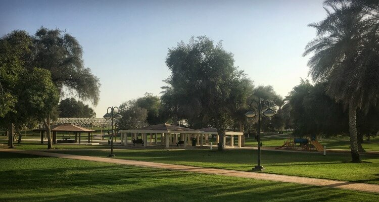 New Airport Garden one of Abu Dhabi's hidden gem play parks and public spaces | Our Globetrotters Familt Travel & Expat Blog