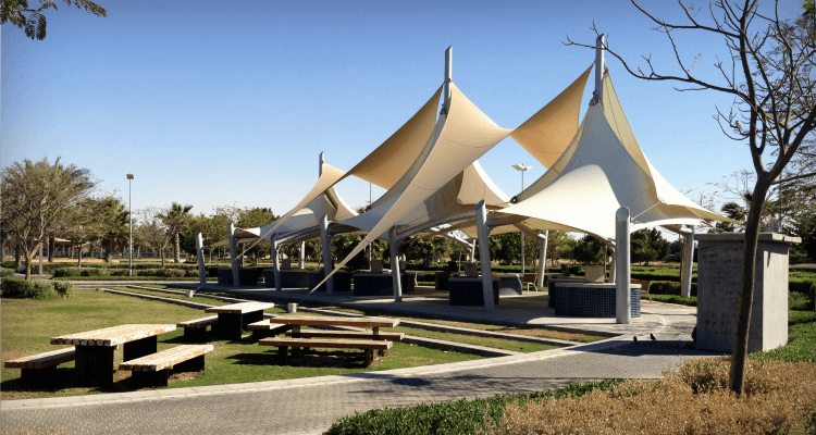 Yas Gateway Park on Yas Island Abu Dhabi a great open space and playground area off island   Our Globetrotters Family Travel & Expat Blog