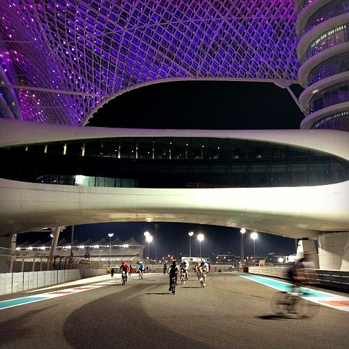 Yas Marina Circuit TrainYas open nights | Our Globetrotters Family Travel & Expat Blog
