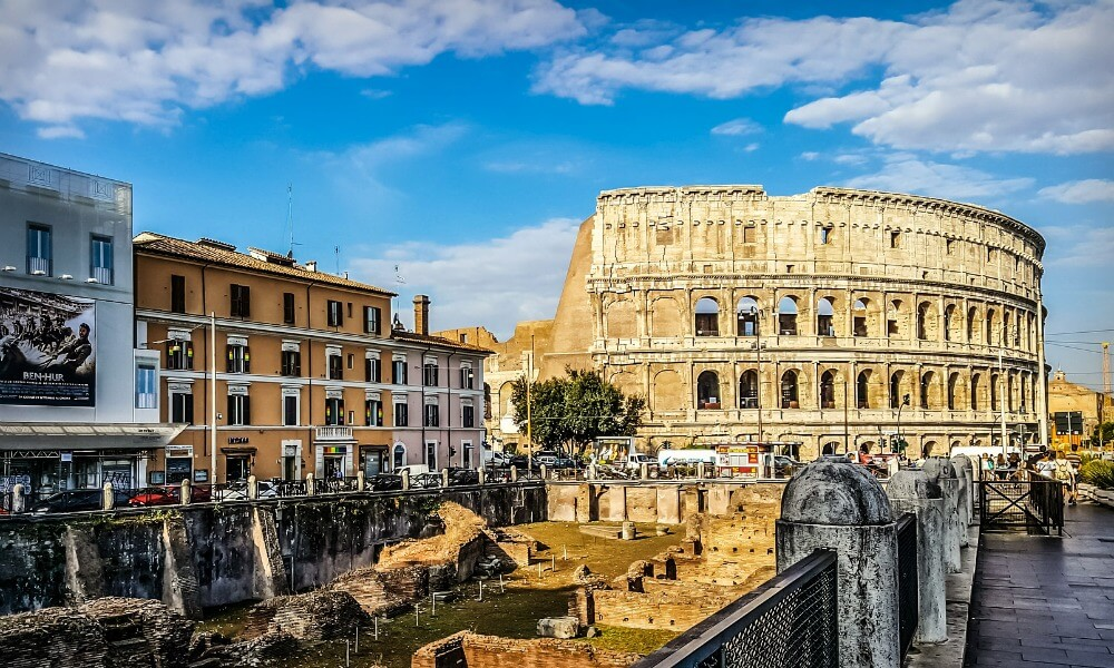 The Colosseum Rome   See he seven wonders of the modern world with kids   Our Globetrotters Adventure Family Travel